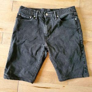 Black Levi's 504 shorts size 34